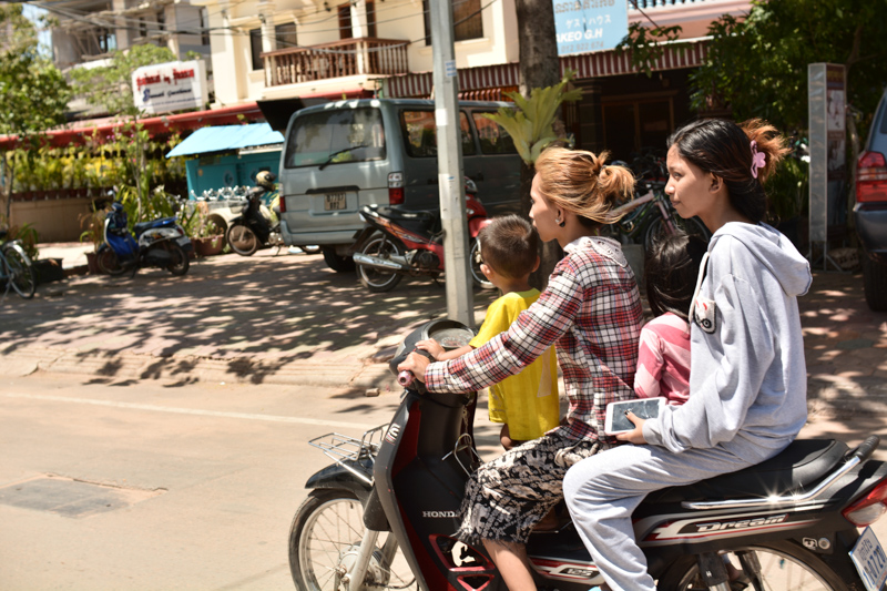The average bike load, Siem Reap