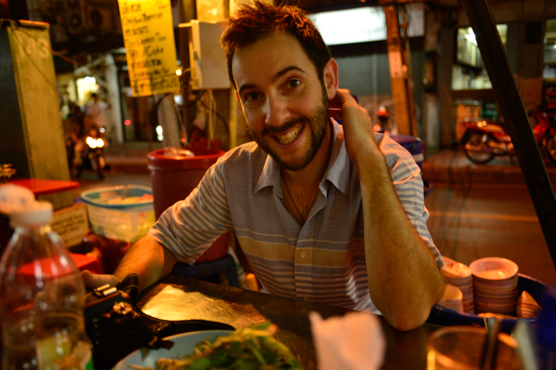 So much street-side food to be enjoyed - stopping for second dinner after filming