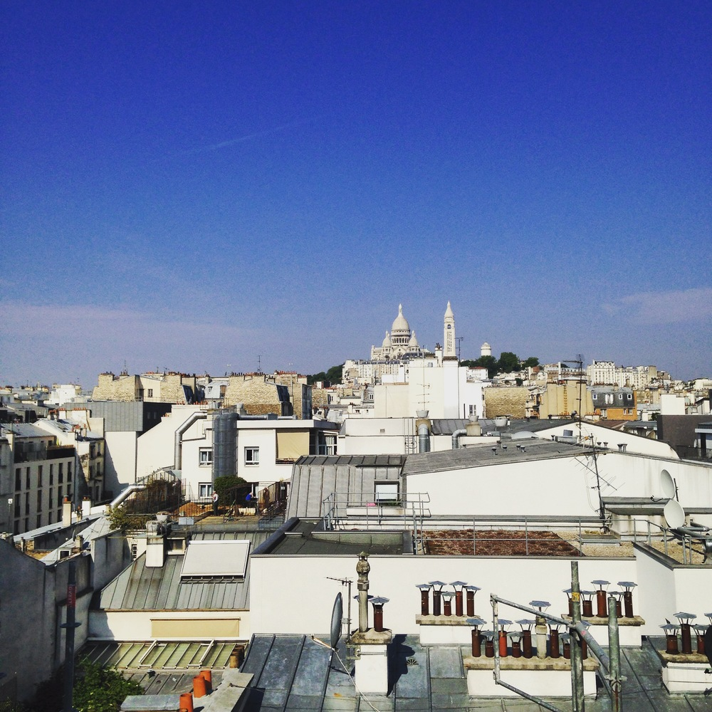 Overlooking the Sacre Coeur
