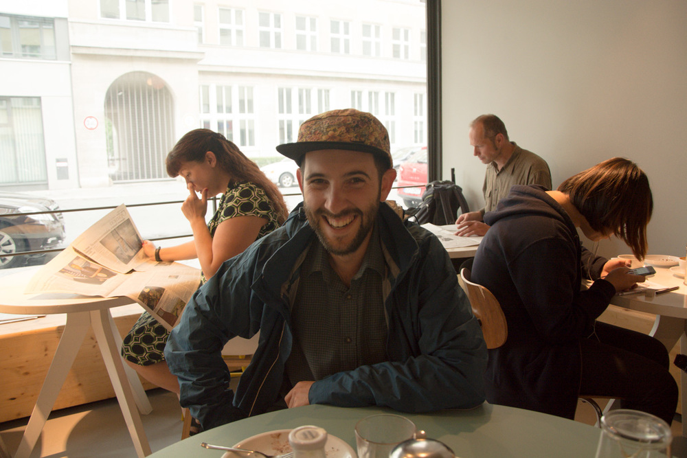 Mark at design trend cafe 'westberlin'