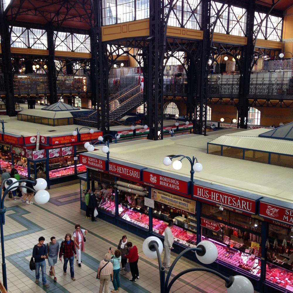 The indoor marketplace, Budapest