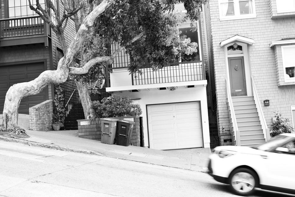 Steep streets.