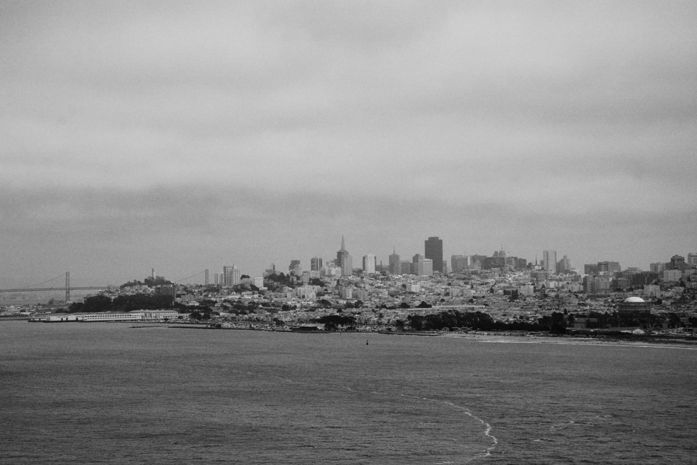 Looking out towards San Fran