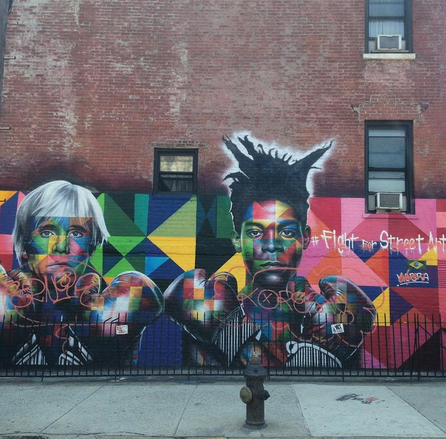 Street art.Warhol. Basquait.