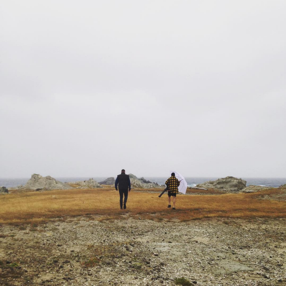 Louis + Mark making their way to our filming location on the Tora coastline.
