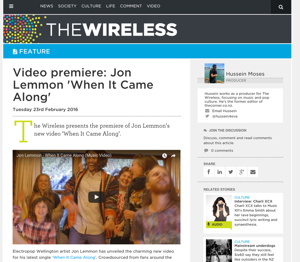 "The Wireless premiered ""When It Came Along"""