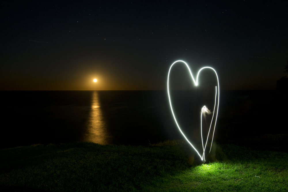 Having some fun with the  May  Full Moon rising over South Avalon Headland