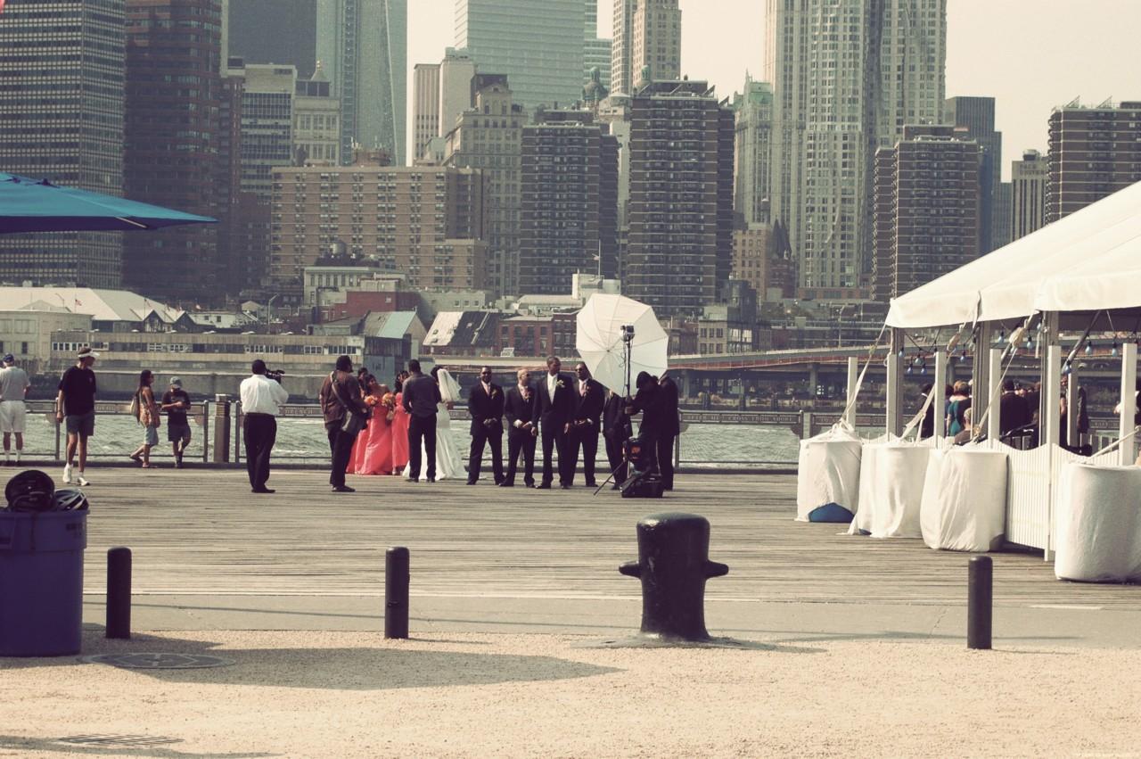 a Brooklyn wedding.