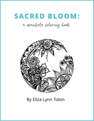 A meditative mandala coloring book for you  Eliza Lynn Tobin