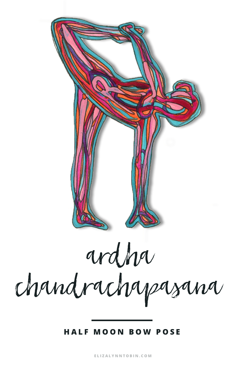 Ardha chandrachapasana by Eliza Lynn Tobin