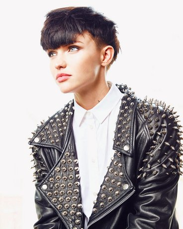 RUBY ROSE wearing our Spiked Biker Jacket on Vanity Fair US June 2015