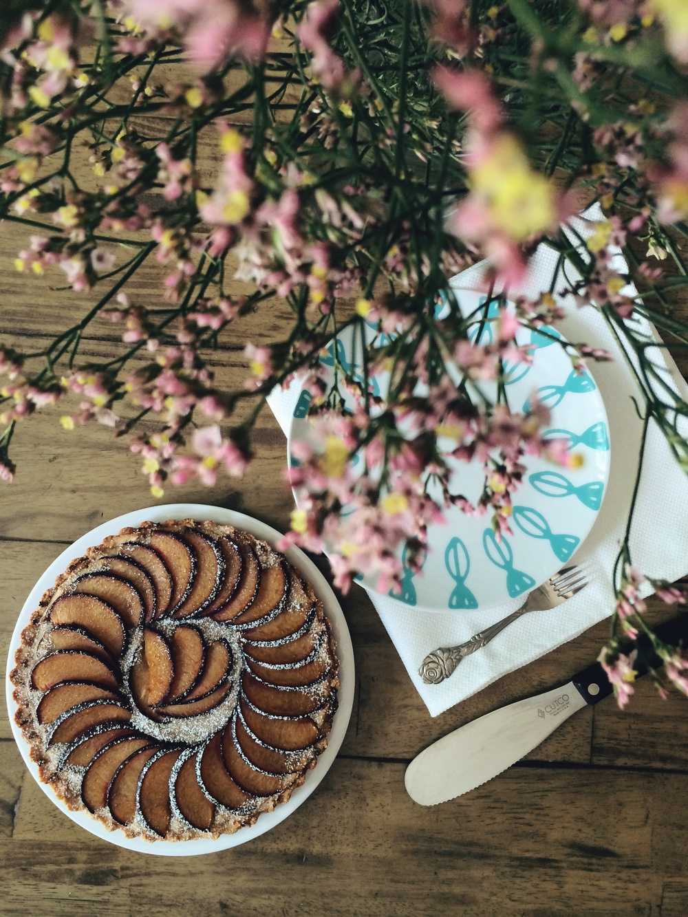 Plum Almond Tart #foodbymars