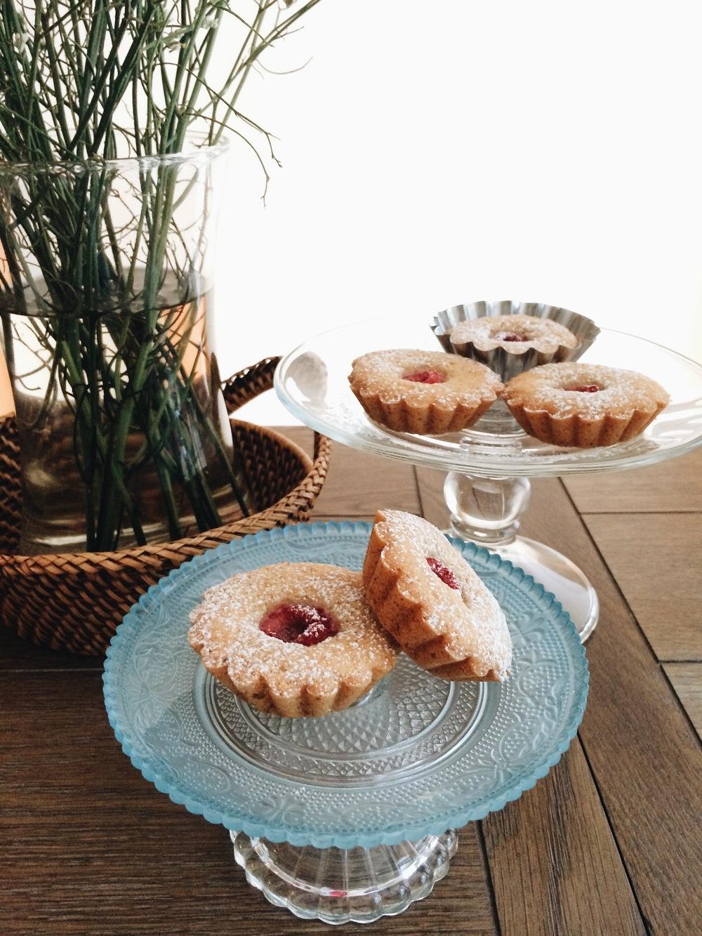 Raspberry Financiers #foodbymars #glutenfree