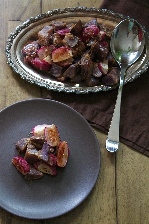 Roasted Radishes & Potatoes #foodbymars #vegetables #sidedish #recipe