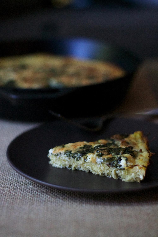 Spinach & Feta Squash Quiche #quiche #spinach #recipe #glutenfree #foodbymars