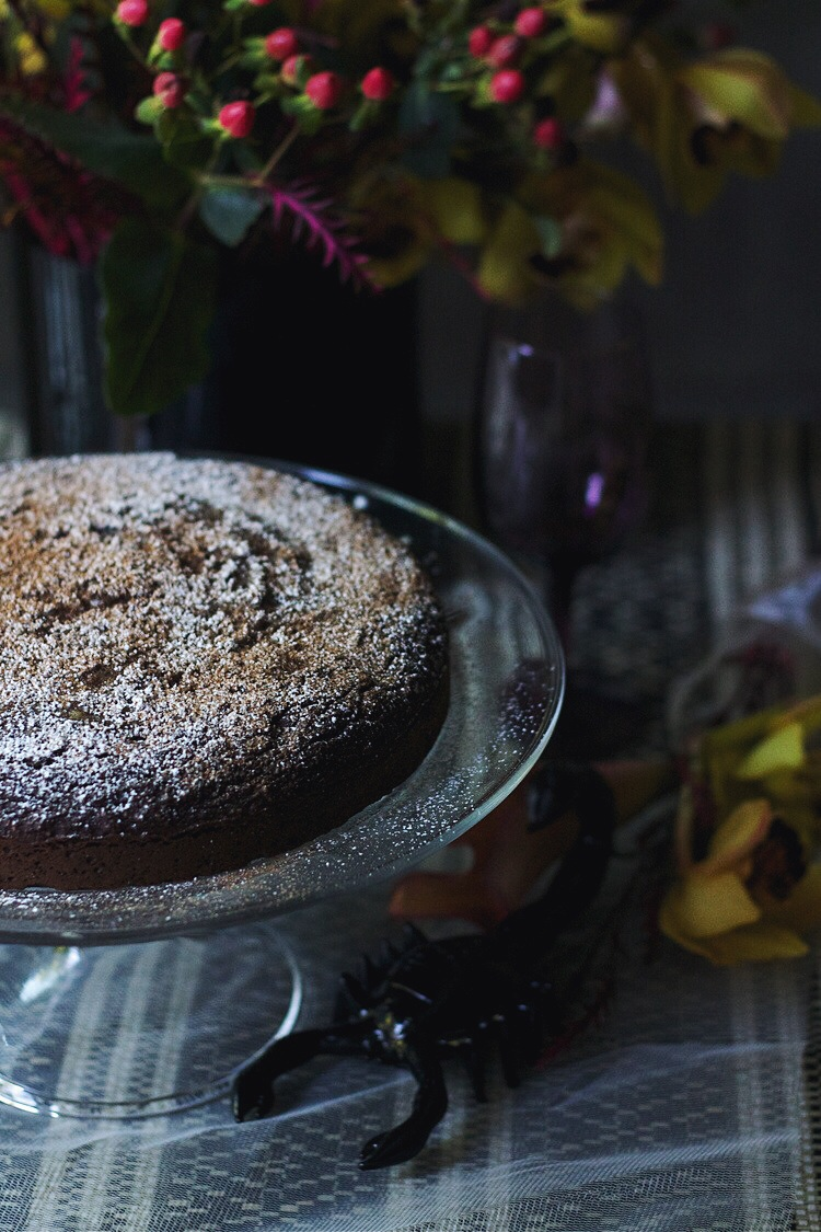 Spiced Chocolate Chestnut Cake for Scorpio #foodbymars #gluten-free