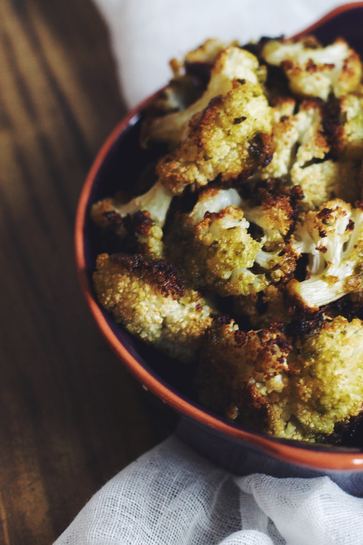 Roasted Cauliflower with Pesto #foodbymars #vegan #vegetarian