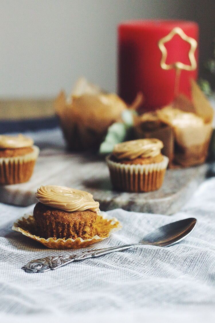 Carrot cupcakes with maple meringue buttercream #sagittarius #birthday #gluten-free #foodbymars