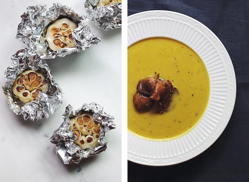 Roasted Garlic Soup with Mushrooms #foodbymars #vegan #dairyfree #glutenfree