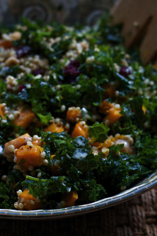Butternut Squash, Kale and Sorghum Salad #foodbymars #glutenfree #vegan #healthy