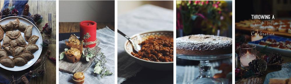 Black-Bean Squash Empanadas, Sagittarius Carrot Cupcakes, Lentil Soup, Scorpio Chocolate Chestnut Cake, A Winter Solstice Celebration