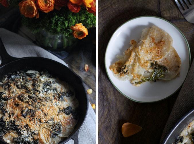 Turnip and Kale Gratin #foodbymars #glutenfree #vegetarian