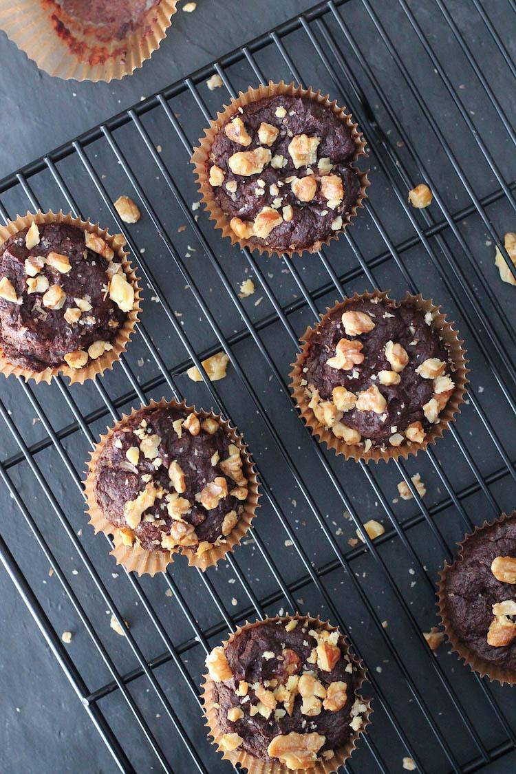Banana-Nut Brownies made with Otto's Cassava Flour #glutenfree #vegan #chocolate #foodbymars