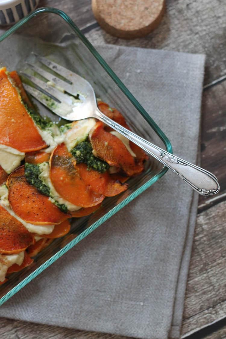Butternut Squash Lasagna w/ Cashew Cheese & Kale Pesto (Vegan & Gluten-free) #foodbymars #vegan #glutenfree