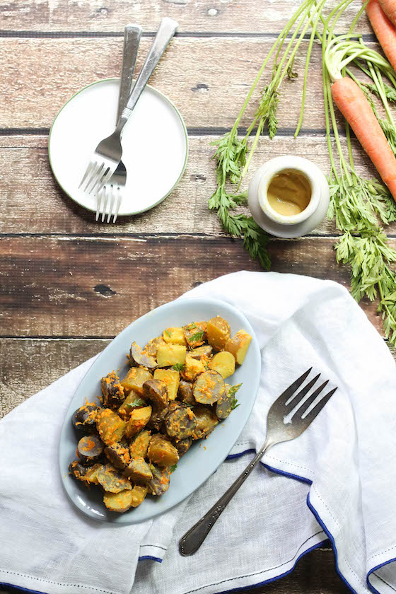 Dijon Fingerling Potato Salad (vegan, gluten-free, dairy-free)