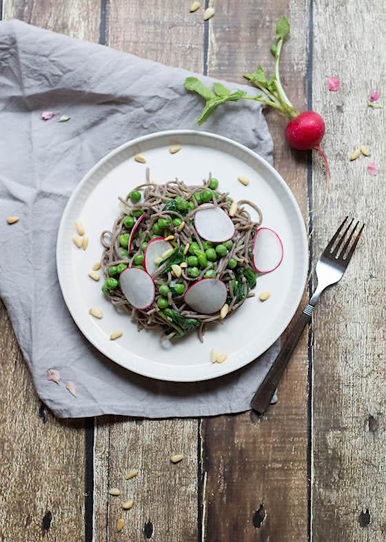 Spring Vegetable Buckwheat Soba Food by Mars