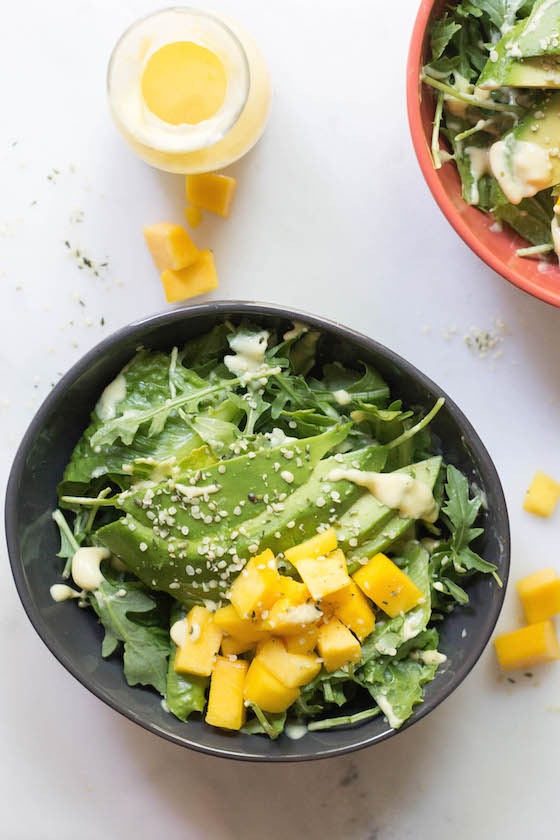 Creamy Mango Salad (vegan) via Food by Mars