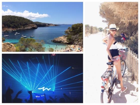 Bike riding in Formentera, Raving at Pacha, and beach hopping at Cala Conte & Cala Salada