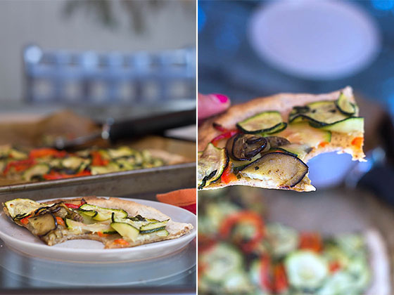 Summer Vegetable Flatbread Pizza (V + GF) via Food by Mars
