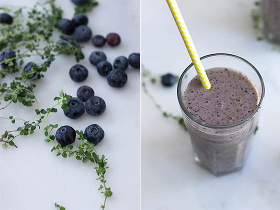 Blue Moon Smoothie (Blueberry & Lemon Thyme) via Food by Mars