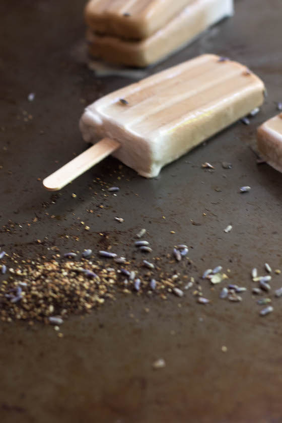 Lavender Chai Popsicles (Vegan) via Food by Mars