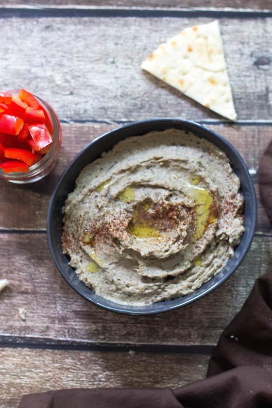 Baba Ganoush (Roasted Eggplant Dip) (Vegan, Gluten-free) via Food by Mars