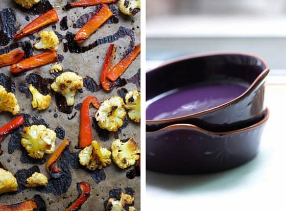 Sweet Saffron Roasted Cauliflower and Peppers (Vegan & Gluten-free) via Food by Mars