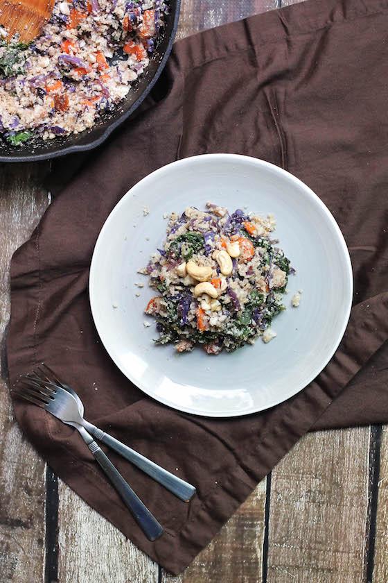 Autumn Veggie Cauliflower 'Fried Rice' (vegan, gluten-free, grain-free) via Food by Mars