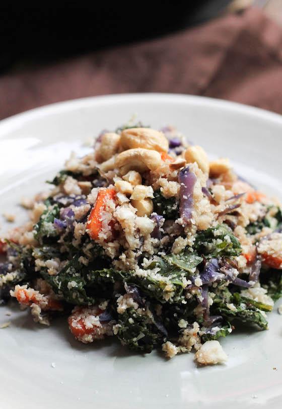 Autumn Veggie Cauliflower 'Fried Rice' (vegan, gluten-free, grain-free, low-carb) via Food by Mars
