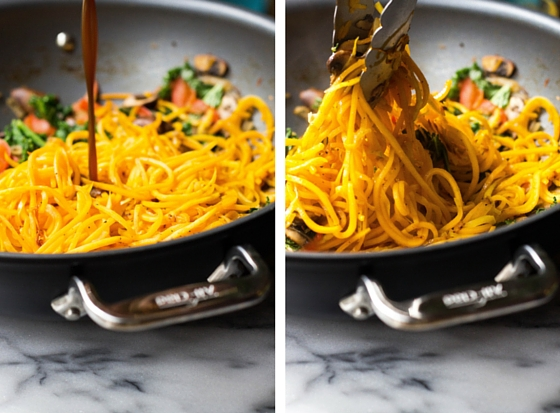 Butternut Squash Lo Mein (gluten-free, grain-free, vegan) via Food by Mars