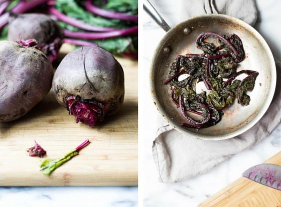 Balsamic Beets and Greens (gluten-free, vegan) via Food by Mars