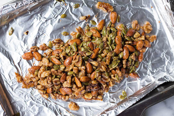 Maple Roasted Nuts (vegan & gluten-free) via Food by Mars