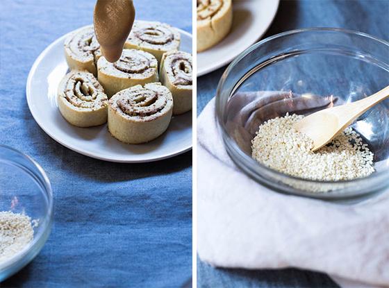 Maple Sesame Cinnamon Rolls (gluten-free, grain-free, dairy-free, paleo) via Food by Mars