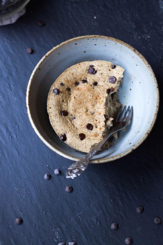 Microwave Protein Blondie Cake (gluten-free, grain-free) via Food by Mars