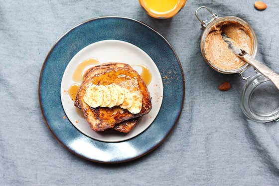 Almond Butter French Toast (gluten-free & vegan optional) via Food by Mars