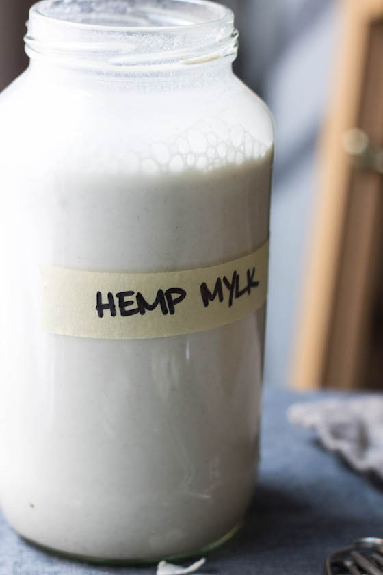 DIY Hemp Mylk (vegan, dairy-free, nut-free) alternative milk made with hemp seeds via Food by Mars