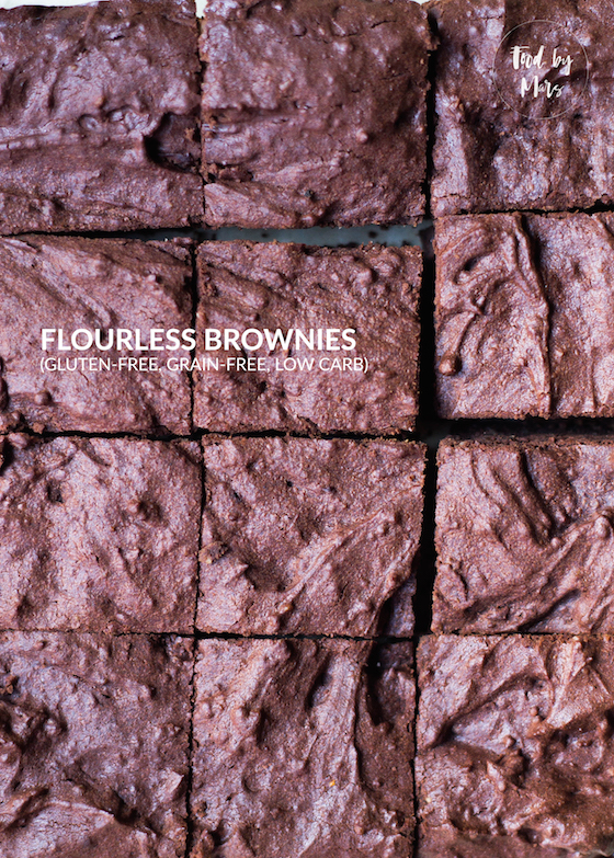 Flourless Brownies (grain-free, gluten-free, low carb, refined sugar free, easy) via Food by Mars