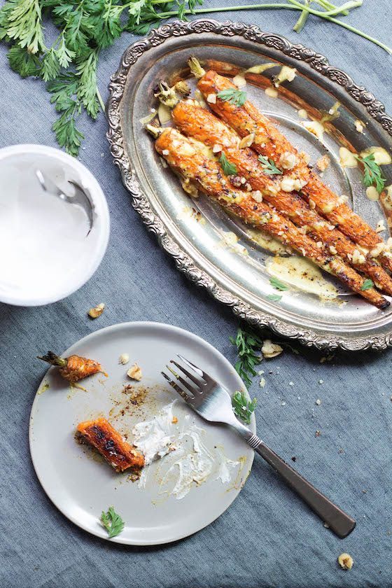 Curry Spiced & Roasted Carrots (vegan, vegetarian, gluten-free, dairy-free) and easy! via Food by Mars