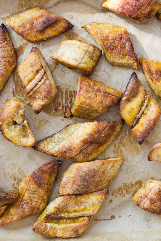 Roasted Sweet Plantains (Platanos Maduros) via Food by Mars