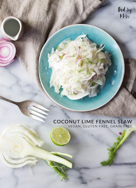 Coconut Lime Fennel Slaw (vegan, gluten-free, grain-free) via Food by Mars